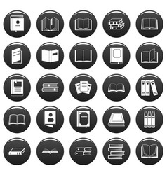 book icons set vetor black vector image