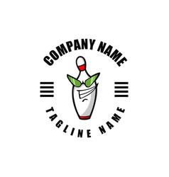 bowling mascot cartoon vector image