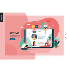 business series - reviews web template vector image