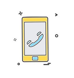 call phone icon design vector image
