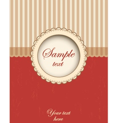 Card template design vector image