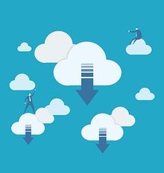 Cloud computing download vector