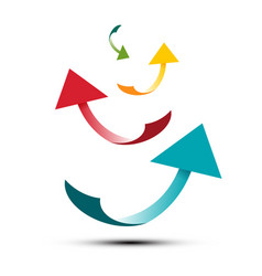 colorful bent paper arrows vector image