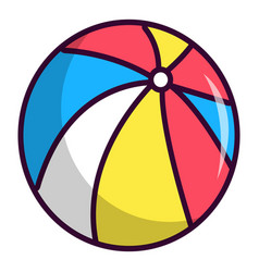 Colorful circus ball icon cartoon style vector