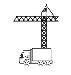 Crane and truck icon image vector