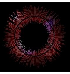 Data flow frame vector image vector image