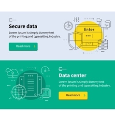 Datacenter Banner Set vector image