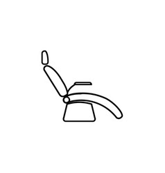 dentist chair line icon medical armchair icons vector image