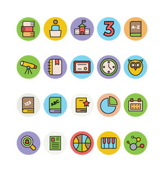 Education colored icons 16 vector