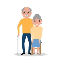 elderly couple grandparents aged people vector image