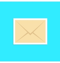 envelope icon sticker isolated on blue background vector image