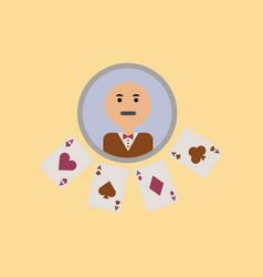 Flat icon on stylish background poker dealer vector