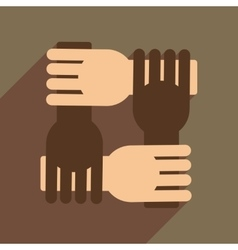 Flat web icon with long shadow support arms vector