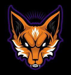 Fox mascot logo design with modern vector