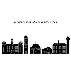 France auvergne rhone alpes lyon architecture vector
