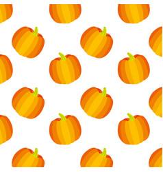 golden pumpkin vegetable fresh pattern vector image