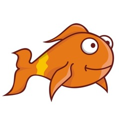 Goldfish cartoon vector