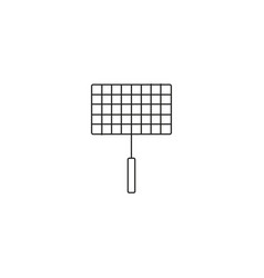 grill line icon vector image