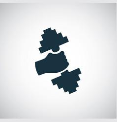 gym icon simple flat element concept design vector image