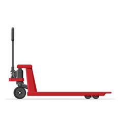Hand pallet jack lift isolated on white vector