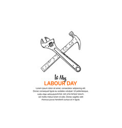 Labor day design 1st may celebration with tools vector