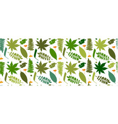 leaves and plants seamless pattern for your vector image