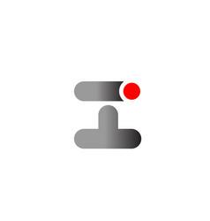 letter i logo alphabet design icon for business vector image