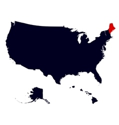 maine state in united states map vector image