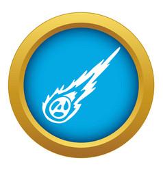 Meteorite icon blue isolated vector