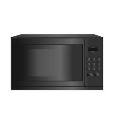 Microwave home appliances isolated on a white vector