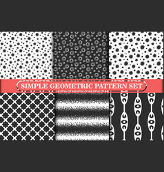 minimalist simple geometric seamless pattern vector image