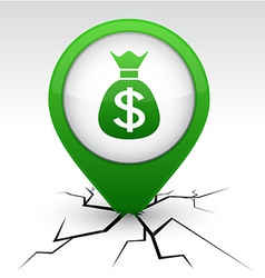Money green icon in crack vector image