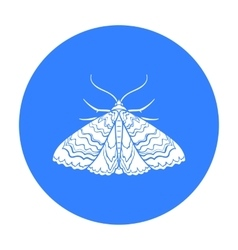 Moth icon in black style isolated on white vector image