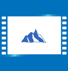 mountain icon - stylized image vector image