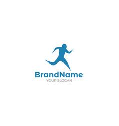 Movement run logo design vector