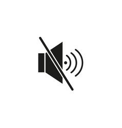 mute voice icon vector image