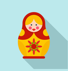 national nesting doll icon flat style vector image