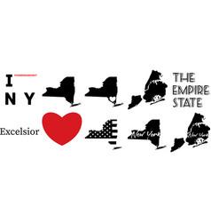 New york us map vector