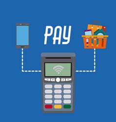 Nfc technology payment vector