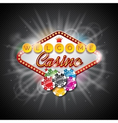 On a casino theme with playing board vector