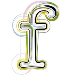 Organic Font letter f vector