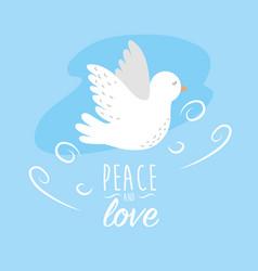 Peaceful dove to worldwide harmony element vector