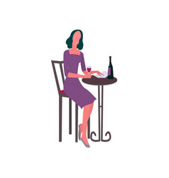 people met at the bar and drink wine and enjoy the vector image