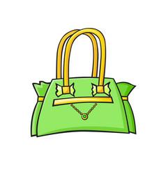 Pop art style handbag sticker vector