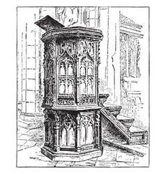 pulpit vintage vector image