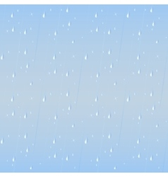 Rain drops seamless background vector image