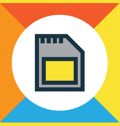 sd card colorful outline symbol premium quality vector image vector image