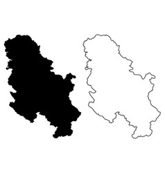 serbia map vector image