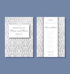set of wedding invitation templates cover design vector image