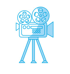 Silhouette movie camera to projection scene vector